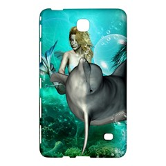 Beautiful Mermaid With  Dolphin With Bubbles And Water Splash Samsung Galaxy Tab 4 (7 ) Hardshell Case