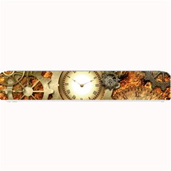 Steampunk, Wonderful Steampunk Design With Clocks And Gears In Golden Desing Small Bar Mats