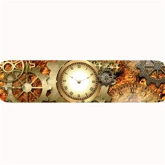 Steampunk, Wonderful Steampunk Design With Clocks And Gears In Golden Desing Large Bar Mats