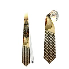 Steampunk, Wonderful Steampunk Design With Clocks And Gears In Golden Desing Neckties (One Side)