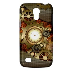 Steampunk, Wonderful Steampunk Design With Clocks And Gears In Golden Desing Galaxy S4 Mini
