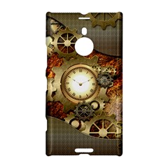 Steampunk, Wonderful Steampunk Design With Clocks And Gears In Golden Desing Nokia Lumia 1520