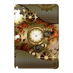 Steampunk, Wonderful Steampunk Design With Clocks And Gears In Golden Desing Samsung Galaxy Tab Pro 10.1 Hardshell Case