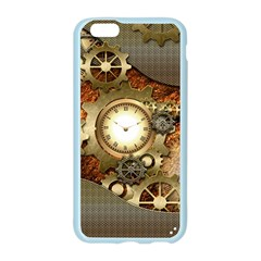 Steampunk, Wonderful Steampunk Design With Clocks And Gears In Golden Desing Apple Seamless iPhone 6/6S Case (Color)