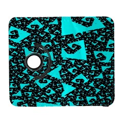 Teal on Black Funky Fractal Samsung Galaxy S  III Flip 360 Case