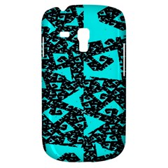 Teal on Black Funky Fractal Samsung Galaxy S3 MINI I8190 Hardshell Case