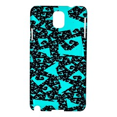 Teal on Black Funky Fractal Samsung Galaxy Note 3 N9005 Hardshell Case