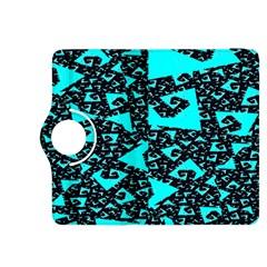 Teal on Black Funky Fractal Kindle Fire HDX 8.9  Flip 360 Case