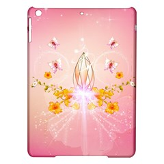Wonderful Flowers With Butterflies And Diamond In Soft Pink Colors iPad Air Hardshell Cases