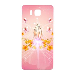 Wonderful Flowers With Butterflies And Diamond In Soft Pink Colors Samsung Galaxy Alpha Hardshell Back Case