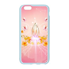 Wonderful Flowers With Butterflies And Diamond In Soft Pink Colors Apple Seamless iPhone 6/6S Case (Color)