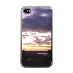 Sunset Over The Valley Apple iPhone 4 Case (Clear)