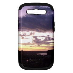 Sunset Over The Valley Samsung Galaxy S III Hardshell Case (PC+Silicone)