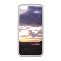 Sunset Over The Valley Apple iPhone 5C Seamless Case (White)