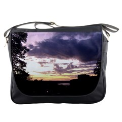Sunset Over The Valley Messenger Bags