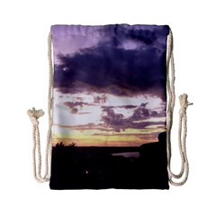 Sunset Over The Valley Drawstring Bag (Small)