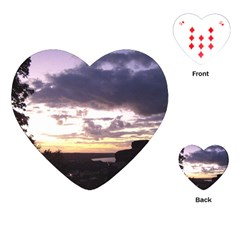 Sunset Over The Valley Playing Cards (heart)