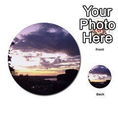 Sunset Over The Valley Multi Purpose Cards (round)