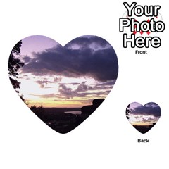 Sunset Over The Valley Multi Purpose Cards (heart)