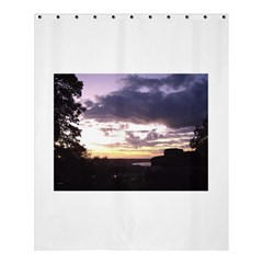 Sunset Over The Valley Shower Curtain 60  x 72  (Medium)