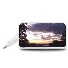 Sunset Over The Valley Portable Speaker (White)