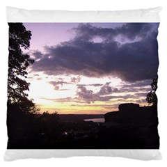 Sunset Over The Valley Standard Flano Cushion Cases (One Side)