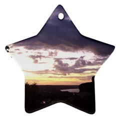 Sunset Over The Valley Ornament (Star)