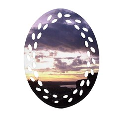 Sunset Over The Valley Oval Filigree Ornament (2-Side)