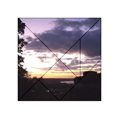 Sunset Over The Valley Acrylic Tangram Puzzle (4  x 4 )