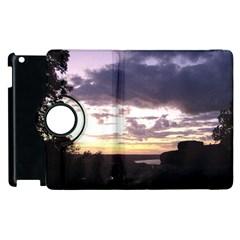 Sunset Over The Valley Apple iPad 2 Flip 360 Case
