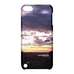 Sunset Over The Valley Apple iPod Touch 5 Hardshell Case with Stand