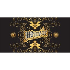 Music The Word With Wonderful Decorative Floral Elements In Gold You Are Invited 3d Greeting Card (8x4)