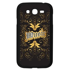 Music The Word With Wonderful Decorative Floral Elements In Gold Samsung Galaxy Grand DUOS I9082 Case (Black)