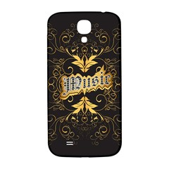 Music The Word With Wonderful Decorative Floral Elements In Gold Samsung Galaxy S4 I9500/I9505  Hardshell Back Case