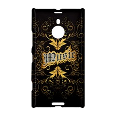 Music The Word With Wonderful Decorative Floral Elements In Gold Nokia Lumia 1520