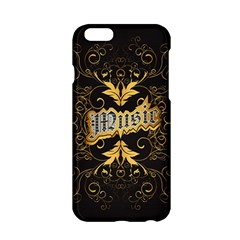 Music The Word With Wonderful Decorative Floral Elements In Gold Apple iPhone 6/6S Hardshell Case