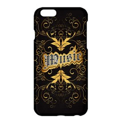 Music The Word With Wonderful Decorative Floral Elements In Gold Apple iPhone 6 Plus/6S Plus Hardshell Case