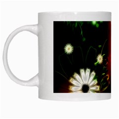 Awesome Flowers In Glowing Lights White Mugs
