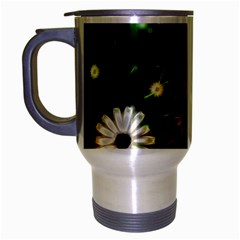 Awesome Flowers In Glowing Lights Travel Mug (Silver Gray)