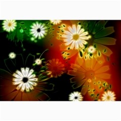 Awesome Flowers In Glowing Lights Collage 12  X 18
