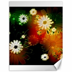 Awesome Flowers In Glowing Lights Canvas 12  X 16