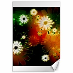 Awesome Flowers In Glowing Lights Canvas 20  x 30