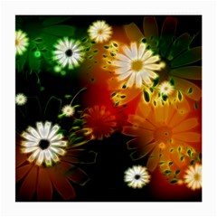 Awesome Flowers In Glowing Lights Medium Glasses Cloth (2-Side)