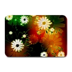 Awesome Flowers In Glowing Lights Plate Mats