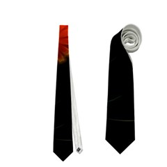 Awesome Flowers In Glowing Lights Neckties (one Side)