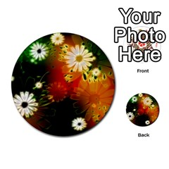 Awesome Flowers In Glowing Lights Multi-purpose Cards (Round)