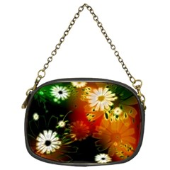 Awesome Flowers In Glowing Lights Chain Purses (Two Sides)