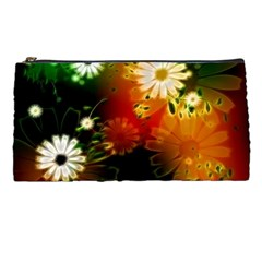 Awesome Flowers In Glowing Lights Pencil Cases