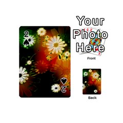 Awesome Flowers In Glowing Lights Playing Cards 54 (Mini)