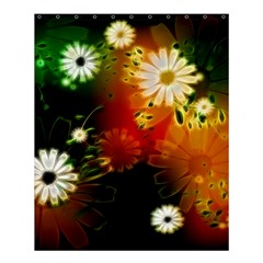 Awesome Flowers In Glowing Lights Shower Curtain 60  x 72  (Medium)